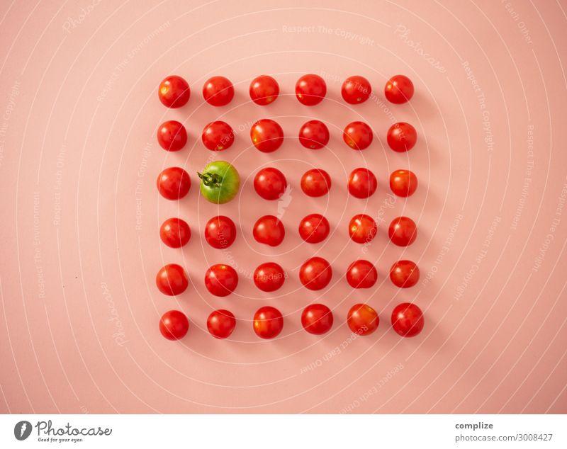 Tomaten Ordnung rot & grün Lebensmittel Gemüse Salat Salatbeilage Frucht Ernährung Essen Mittagessen Picknick Bioprodukte Vegetarische Ernährung Diät