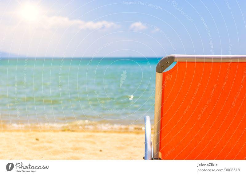 Himmel Ferien & Urlaub & Reisen Natur Sommer blau Landschaft Sonne Meer Erholung Strand Lifestyle Wärme Küste Tourismus Textfreiraum Freiheit