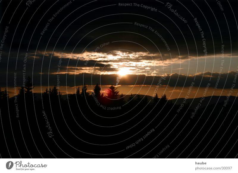 Sturm Wolken Licht Berge u. Gebirge Himmel Sonne Gewitter Sonnenblicke