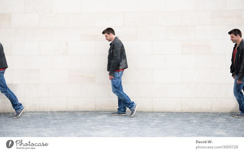 Lebenslauf Lifestyle elegant Stil Design Mensch maskulin Junger Mann Jugendliche Erwachsene 1 3 Kunst Kunstwerk Theaterschauspiel gehen Drillinge ähnlich gleich