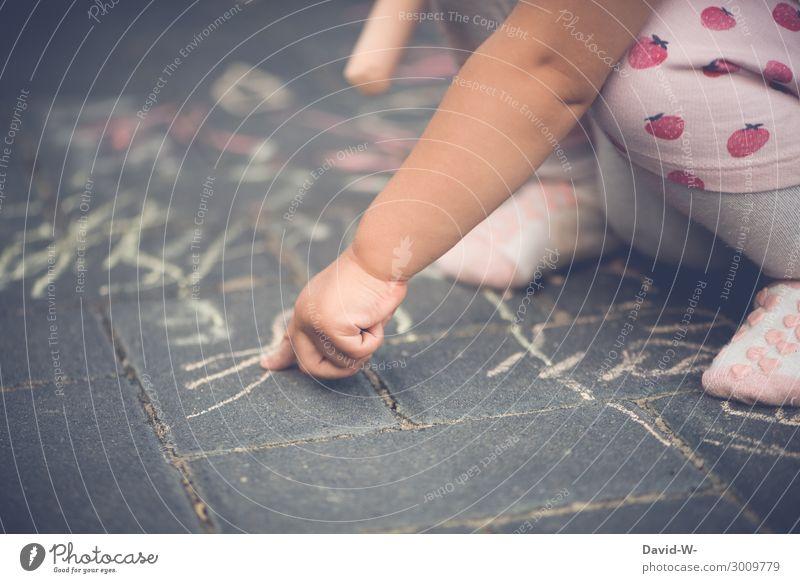 kleiner Künstler Lifestyle Freizeit & Hobby Spielen Kindererziehung Bildung Mensch feminin Baby Kleinkind Kindheit Leben Arme Hand Finger 1 Kunst zeichnen