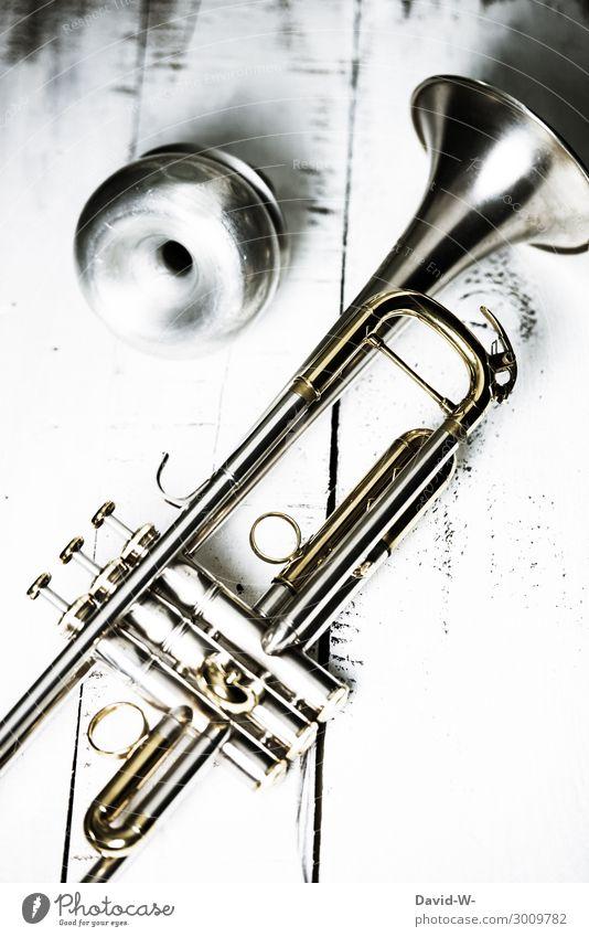 Trompete mit Dämpfer Lifestyle elegant Stil Design Freizeit & Hobby Spielen Bildung Schule lernen Erfolg Leben Kunst Künstler Kunstwerk Kultur Musik Musik hören