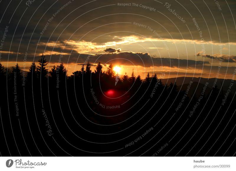 sonnenuntergang Wolken Sturm Licht Berge u. Gebirge Himmel Sonne Gewitter Sonnenblicke
