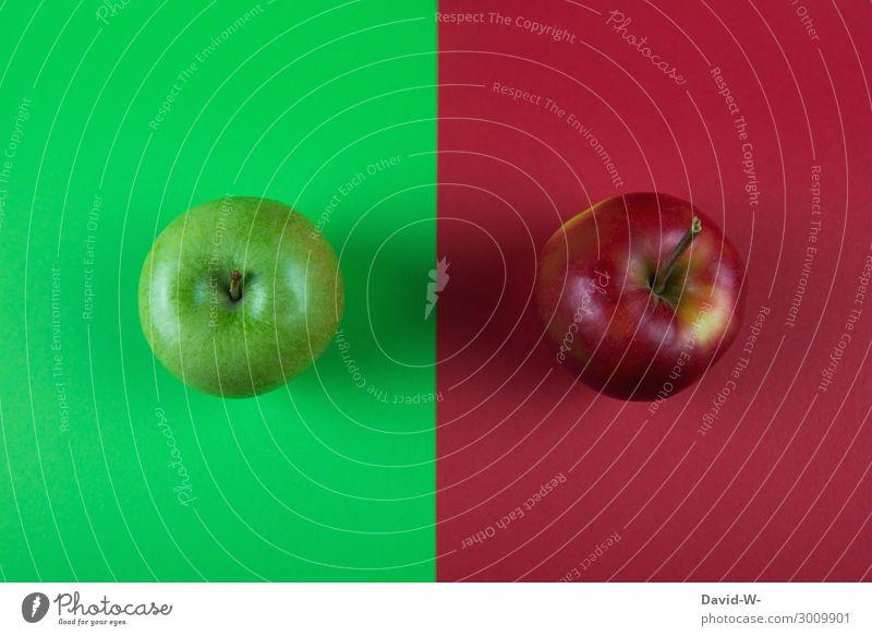 gleich und doch so unterschiedlich Lebensmittel Frucht Apfel Ernährung Bioprodukte Vegetarische Ernährung Diät Fasten Gesundheit Gesunde Ernährung Fitness