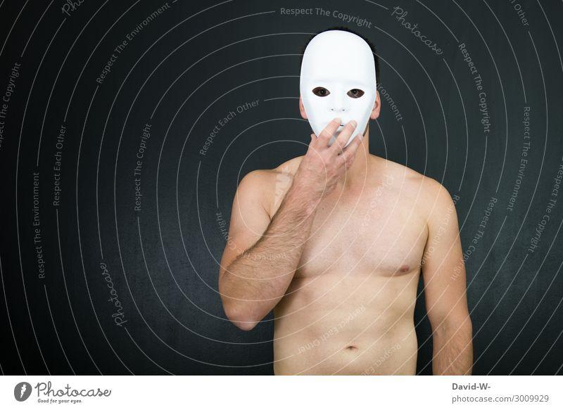 anonym Mensch maskulin Junger Mann Jugendliche Erwachsene Leben Körper Haut Kopf Gesicht Auge Hand 1 Kunst Künstler Theater Schauspieler Kultur Bühne beobachten
