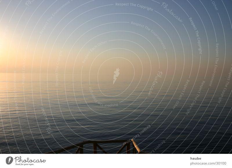 stille see Himmel Sonne Meer Wellen Nebel Steg