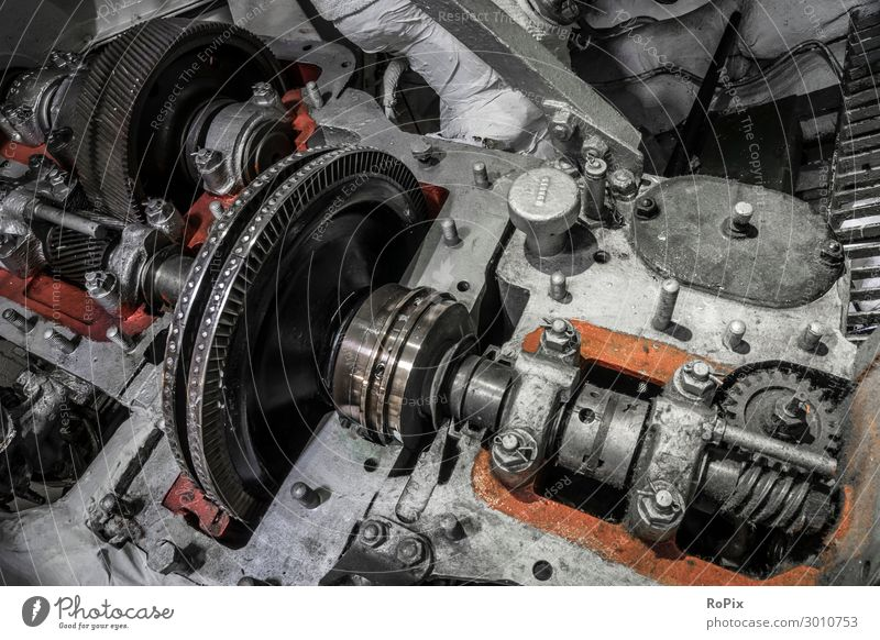 Geöffnetes Getriebe in einem historischen Schiff. Design Arbeit & Erwerbstätigkeit Arbeitsplatz Fabrik Wirtschaft Industrie Werkzeug Maschine