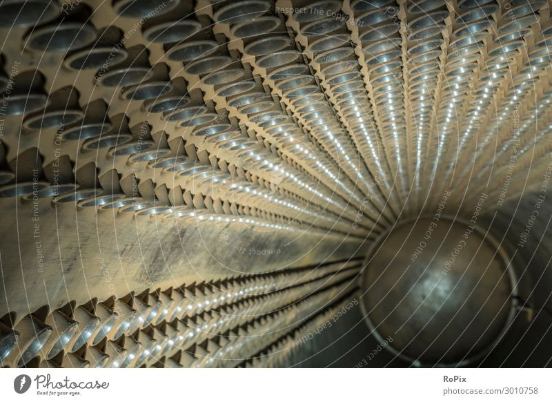 In einem industriellen Wärmetauscher. Stil Design Arbeit & Erwerbstätigkeit Beruf Arbeitsplatz Fabrik Wirtschaft Industrie Maschine Technik & Technologie
