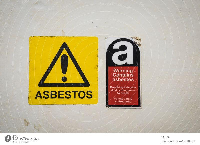 Warnung Enthält Asbest! Ferien & Urlaub & Reisen Tourismus Sightseeing Städtereise Labor Arbeit & Erwerbstätigkeit Beruf Arbeitsplatz Baustelle Wirtschaft