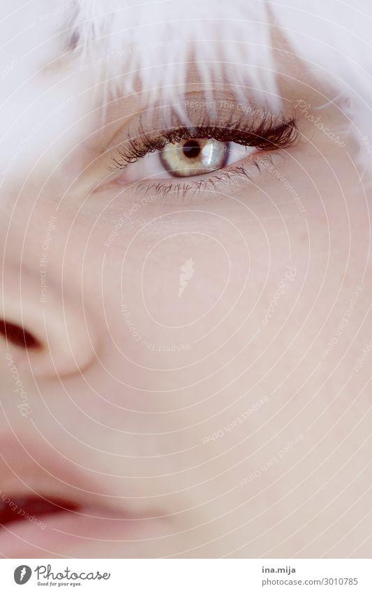 ein Augenblick Lifestyle elegant Stil schön Körperpflege Haut Gesicht Kosmetik Wimperntusche Mensch feminin Junge Frau Jugendliche Erwachsene 1 18-30 Jahre