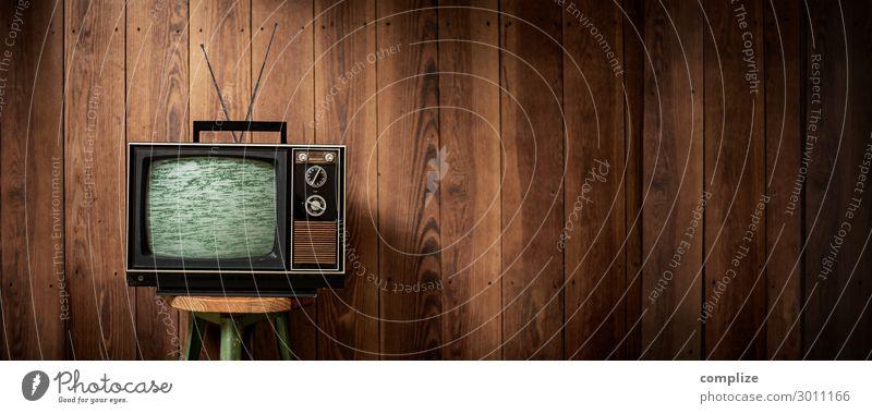 70er Jahre Fernseher mit Störung | XXL Panorama Lifestyle Sinnesorgane Erholung Freizeit & Hobby Häusliches Leben Wohnung Kindererziehung Arbeitsplatz