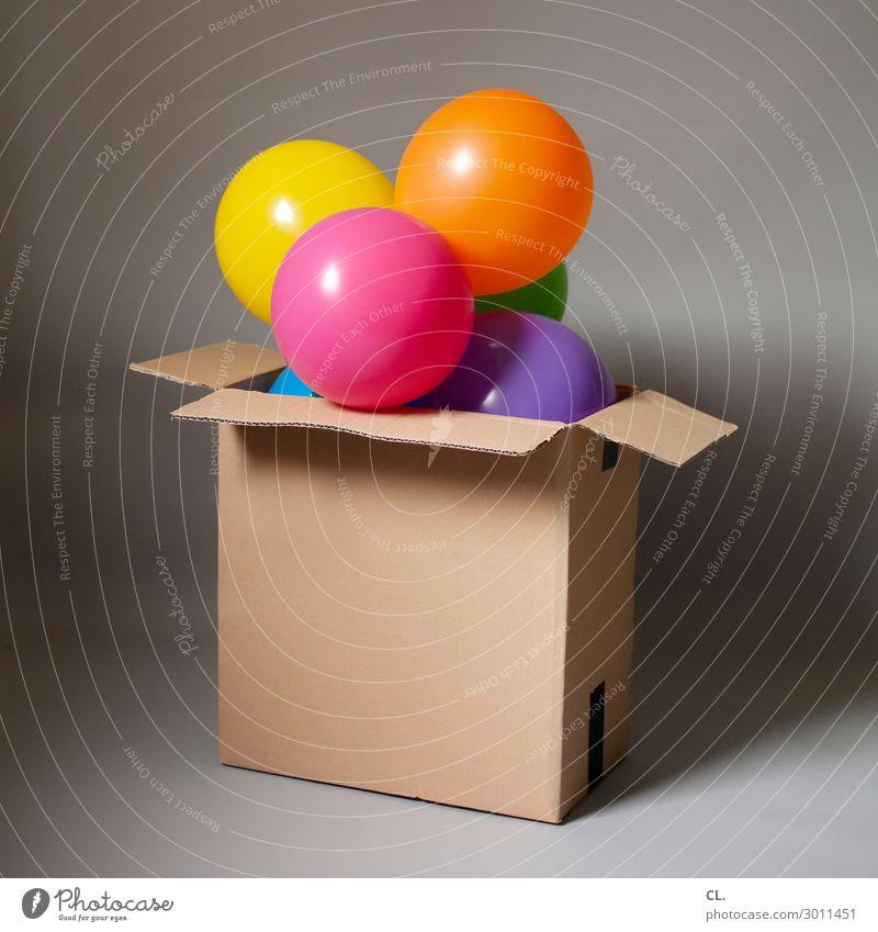 air mail Entertainment Party Veranstaltung Feste & Feiern Karneval Jahrmarkt Geburtstag Verpackung Paket Luftballon außergewöhnlich Gefühle Fröhlichkeit