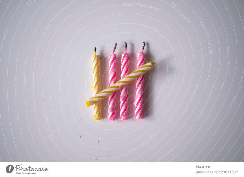 Vorschulkind Freude Party Feste & Feiern Geburtstag Vorschule Kerze Geburtstagskerzen Lächeln Fröhlichkeit Glück gelb rosa weiß Lebensfreude Vorfreude 5 zählen