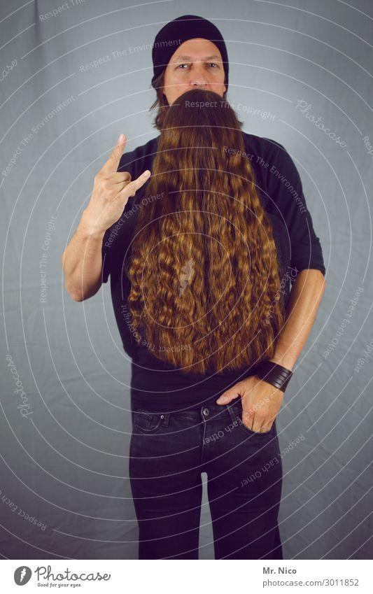 ZZ Top Lifestyle maskulin feminin Haare & Frisuren Bart 2 Mensch Jeanshose Accessoire Mütze Vollbart Behaarung stehen außergewöhnlich trendy Coolness