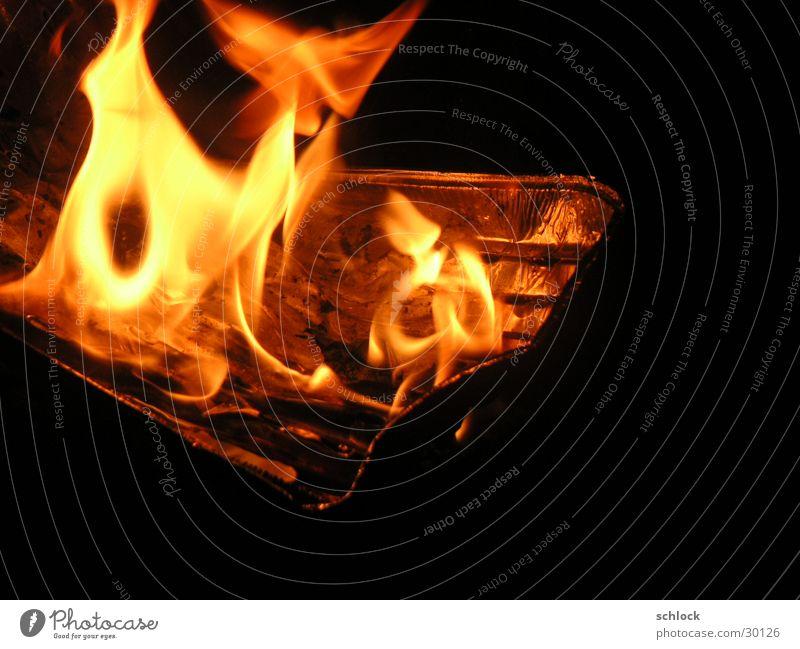 Grillspaß Nacht Brand Alu-Pfanne Grill-Pfanne Feuerstelle