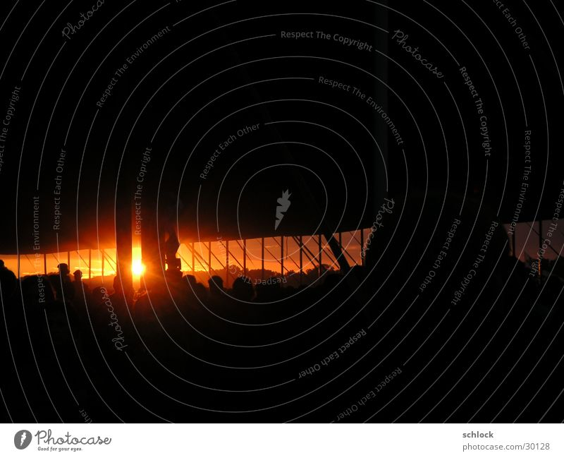 Hardbowl Sonnenuntergang Open Air Zelt Lichtstimmung Dämmerung Konzert Musik Zeltbühne With full force Beatsteacks keine Oper