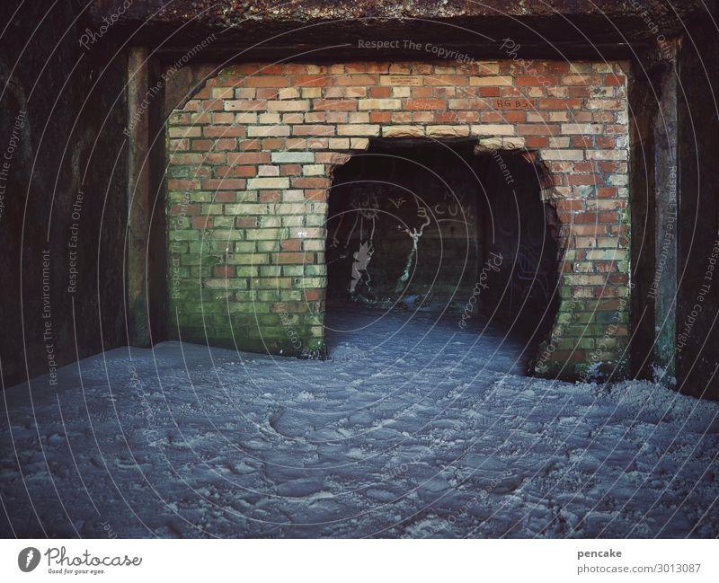 schatten der vergangenheit Urelemente Erde Sand Küste Strand Nordsee Menschenleer Ruine Tunnel Bunker Mauer Wand Denkmal alt authentisch dunkel Krieg Nostalgie