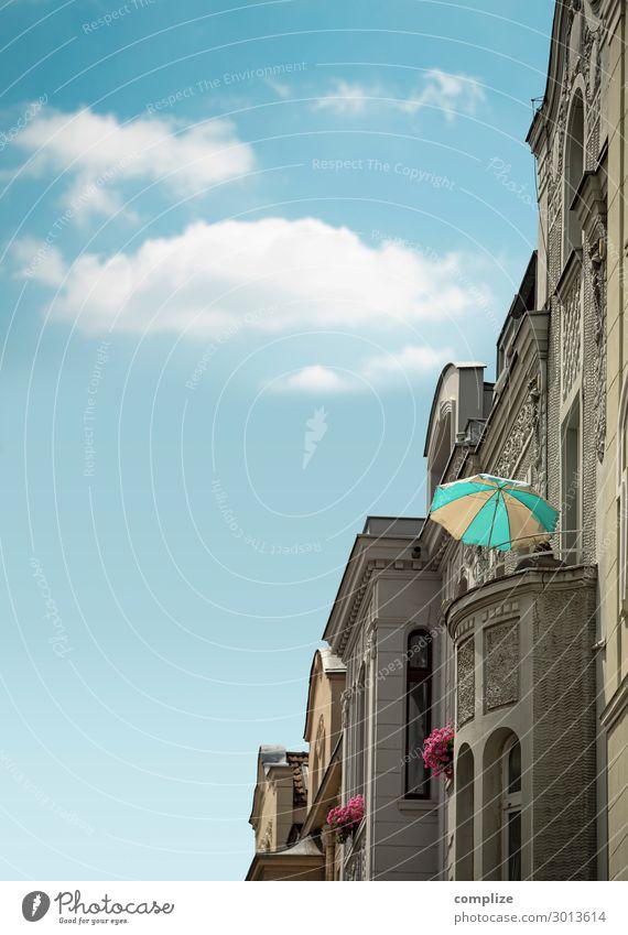 Sommer in der Stadt Ferien & Urlaub & Reisen Sonne Haus Wolken Gesundheit Lifestyle Häusliches Leben Wohnung Freizeit & Hobby Idylle Wellness Stadtzentrum
