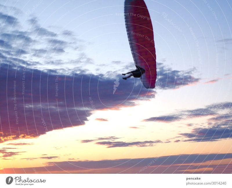 hans | luftig Mensch Himmel Ferien & Urlaub & Reisen Natur Sommer Landschaft Meer Strand Lifestyle Wärme Sport Küste Bewegung Freiheit fliegen Freizeit & Hobby