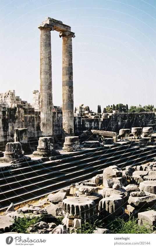Die Ruine von Didima Stein Freizeit & Hobby Säule Türkei Tempel