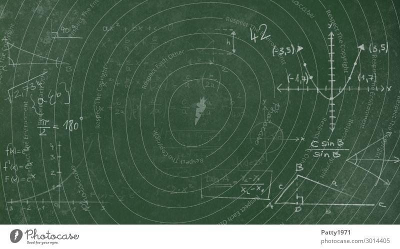 Mathematik auf grüner Schultafel Bildung Wissenschaften Schule Tafel Studium Physik Hintergrundbild Zeichen Schriftzeichen Ziffern & Zahlen Kreidezeichnung
