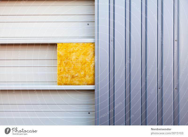 Wärmedämmung Architektur Fassade Arbeit & Erwerbstätigkeit Metall modern Energiewirtschaft Industrie Baustelle Bauwerk Beruf Dienstleistungsgewerbe Stahl