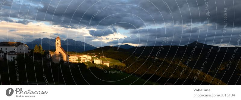 Abend in Deutschnofen Alto Adige Latemar Nova Ponente St. Agatha abend abendhimmel abendstimmung autonome provinz berg bergdorf berge bozen dolomiten eggental
