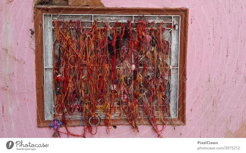 Gardinen Ersatz Ferien & Urlaub & Reisen Tourismus Ausflug Haus Nachtleben Bar Cocktailbar Dorf Stadt Einfamilienhaus Gebäude Architektur Fenster schön rosa