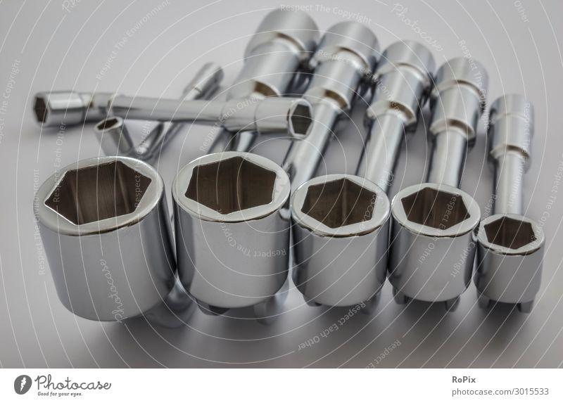 Industrie-Schlüsselwerkzeuge. Basteln Modellbau Arbeit & Erwerbstätigkeit Beruf Arbeitsplatz Fabrik Wirtschaft Handel Baustelle Business Werkzeug Maschine