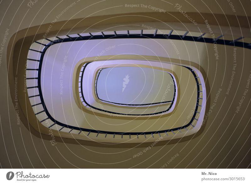 rappukäytävä Haus Hochhaus Bauwerk Gebäude Architektur Treppe außergewöhnlich historisch Treppengeländer Treppenhaus Perspektive Stadthaus Etage Verbindung