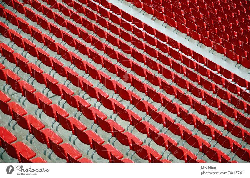 Nordkurve Publikum Tribüne Sportstätten Sportveranstaltung Stadion rot sitzen nebeneinander Bestuhlung Sitzgelegenheit Platz hinsetzen Freizeit & Hobby
