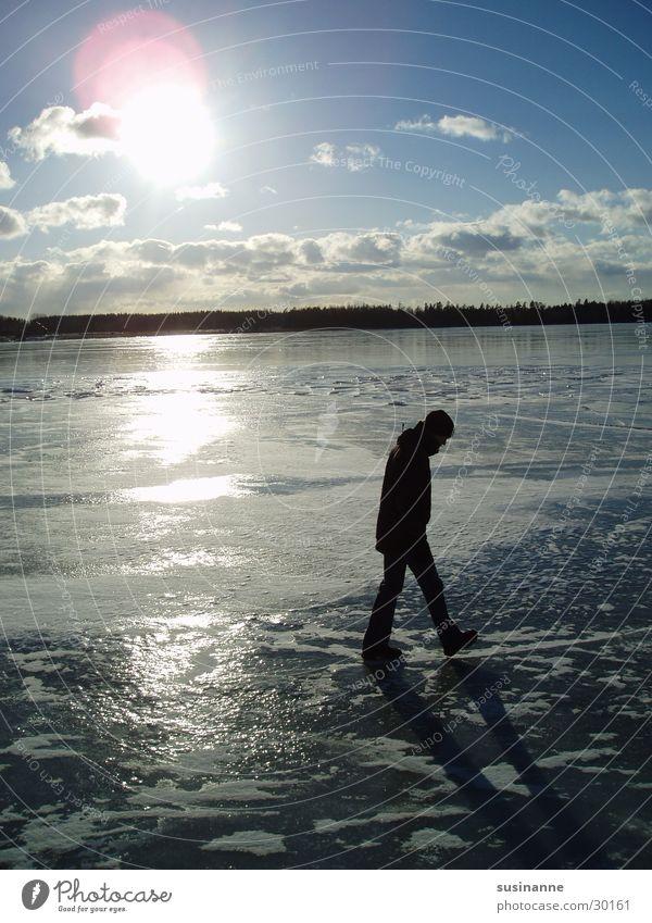 am vättern 2 Winter See Eis gefroren Schweden Vätternsee Motala