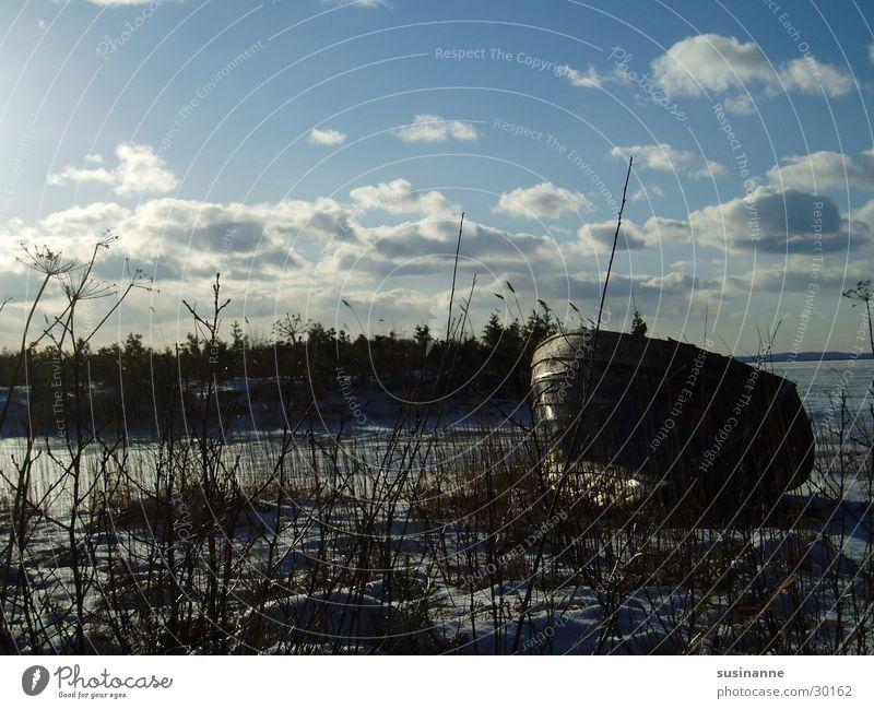 am vättern 1 Vätternsee Wasserfahrzeug See Motala Winter Schweden