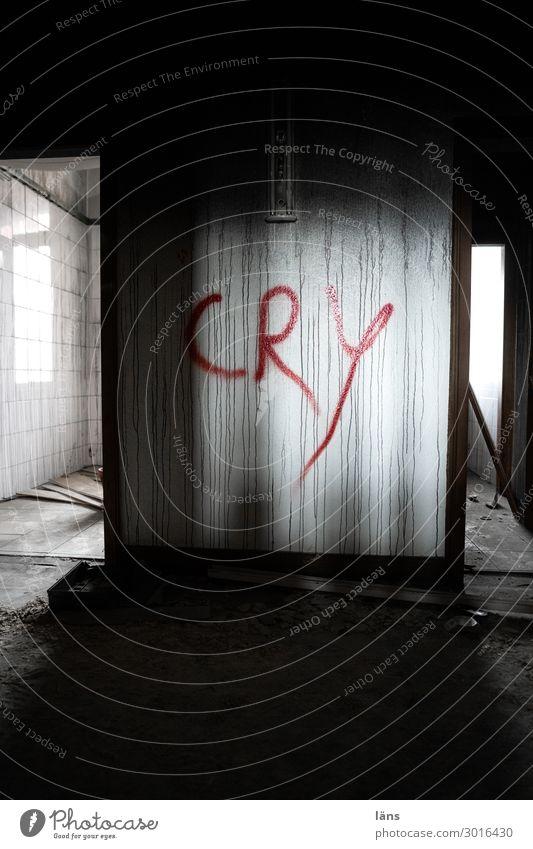Cry Haus Einsamkeit dunkel hell Angst Unbewohnt unheimlich