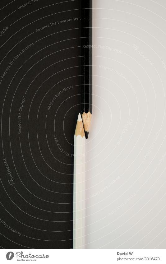Stifte - schwarz und weiß - zwei Seiten Buntstifte Farben Trennung malen zeichnen Kreativität Künstlerisch Art Platzhalter