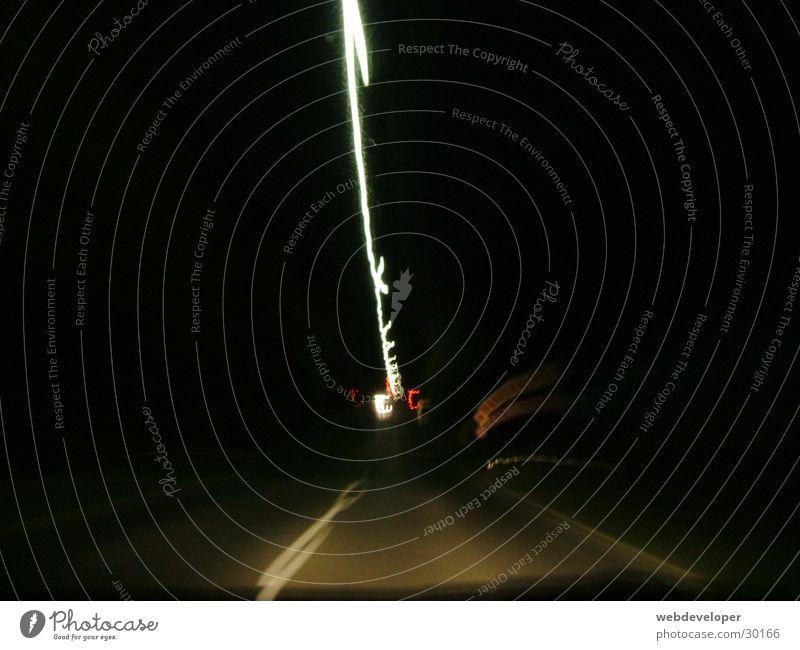fast | lights Geschwindigkeit Langzeitbelichtung verwaschen Licht Nacht dunkel hell