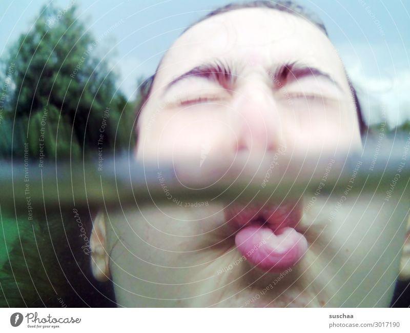 wie ein fisch im wasser (2) Kind Mädchen Jugendliche Gesicht geschlossene Augen Wasser baden schwimmen Schwimmen & Baden tauchen Ferien & Urlaub & Reisen