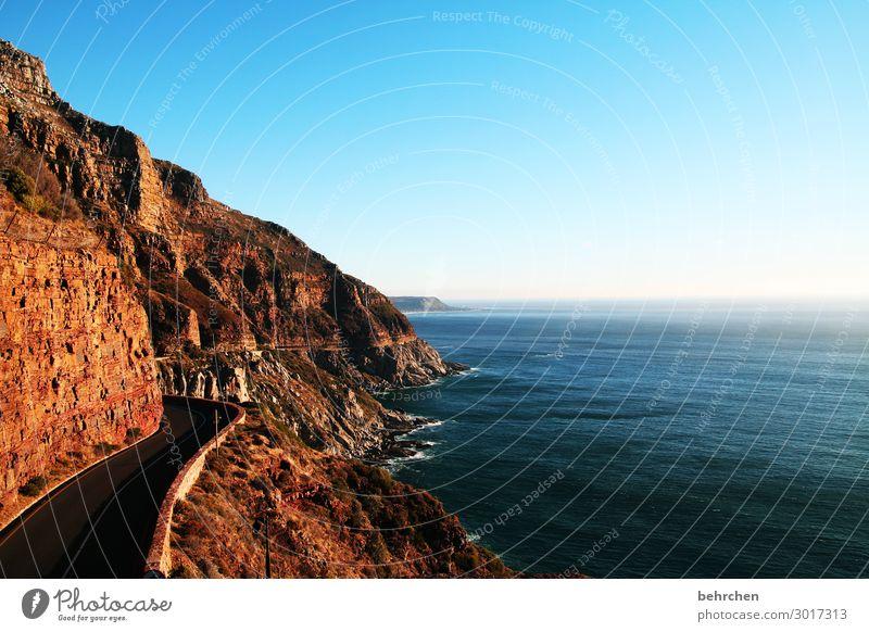 chapmans peak Himmel Ferien & Urlaub & Reisen Natur Wasser Landschaft Meer Ferne Straße Küste Tourismus außergewöhnlich Freiheit Felsen Ausflug träumen Wellen
