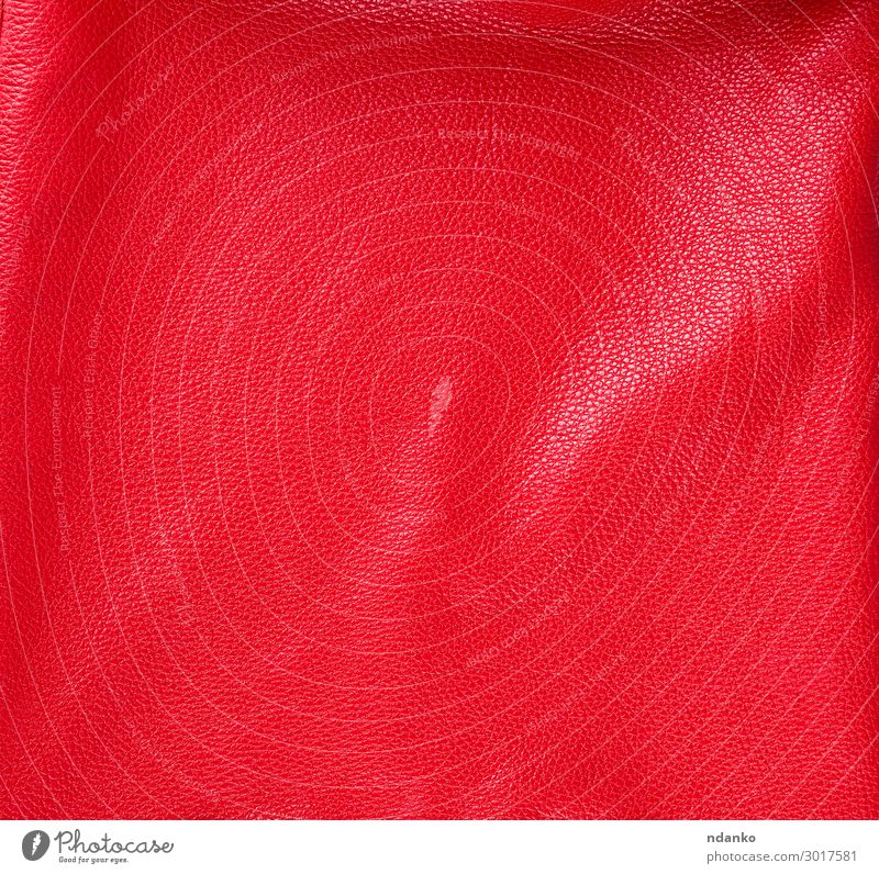 naturbelassene, leuchtend rote Rindslederstruktur, Vollrahmen Reichtum Stil Design Haut Dekoration & Verzierung Möbel Mode Stoff Leder Kuh hell modern natürlich