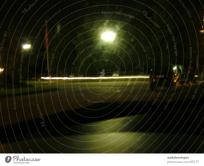 Highway 2 Hell [2] dunkel Nacht Geschwindigkeit verwaschen Lampe Laterne Langzeitbelichtung Straße Licht Bewegung Fahrzeuge