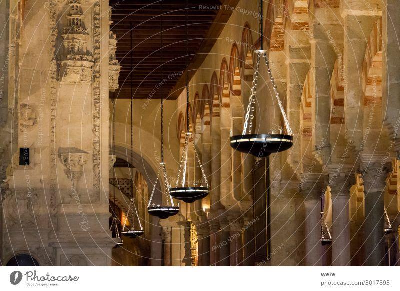 candlesticks in the World Heritage Mezquita Religion & Glaube Europa Kirche Sehenswürdigkeit Bauwerk Spanien Dom Palast Cordoba