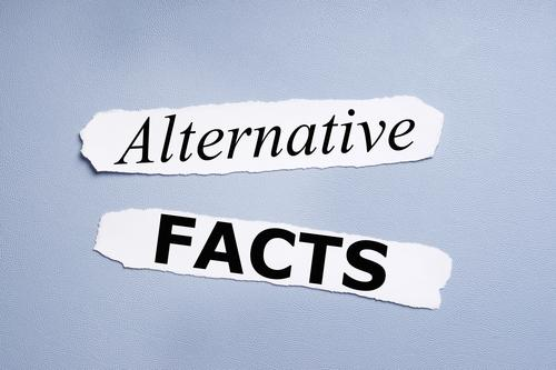 alternative facts Medienbranche Business Schriftzeichen Schilder & Markierungen blau Fälschung Text alternative fakten Politik & Staat Journalismus