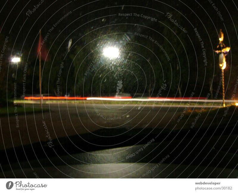 Highway 2 Hell [4] Straße Lampe dunkel Bewegung Geschwindigkeit Laterne verwaschen