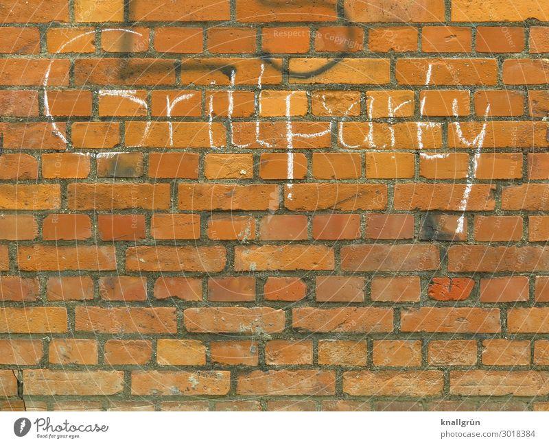 Grillparty Stadt weiß Graffiti Wand Mauer braun Freizeit & Hobby Schriftzeichen Kommunizieren Grillen