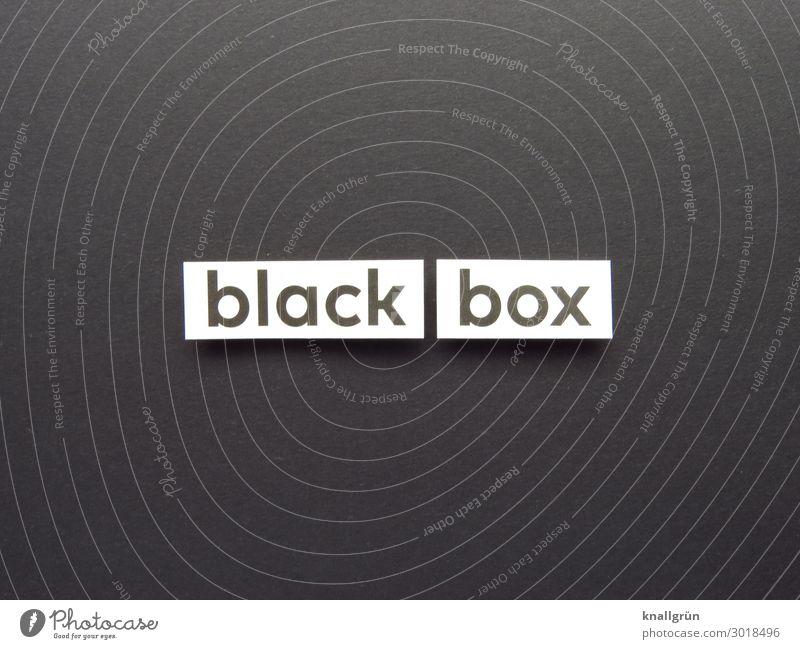 black box Schriftzeichen Schilder & Markierungen Kommunizieren schwarz weiß Gefühle Neugier Interesse Überraschung Erwartung Ferne anonym Psychische Störung