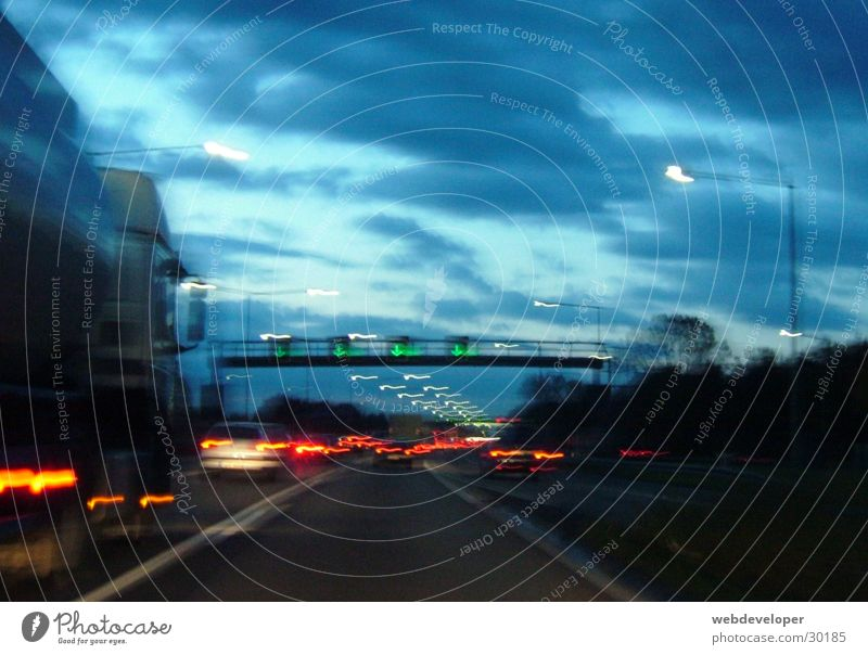 A3 PKW Verkehr Geschwindigkeit Autobahn Verkehrsstau