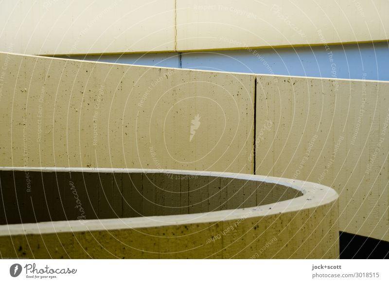 Format Beton Funktionalismus Erlangen Mauer Wand Rampe Streifen Strukturen & Formen authentisch fest modern trist braun Stimmung Einigkeit Design Genauigkeit
