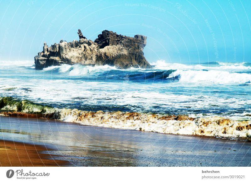 aufbrausend Ferien & Urlaub & Reisen Tourismus Ausflug Abenteuer Ferne Freiheit Landschaft Himmel Wind Felsen Wellen Küste Strand Meer außergewöhnlich exotisch
