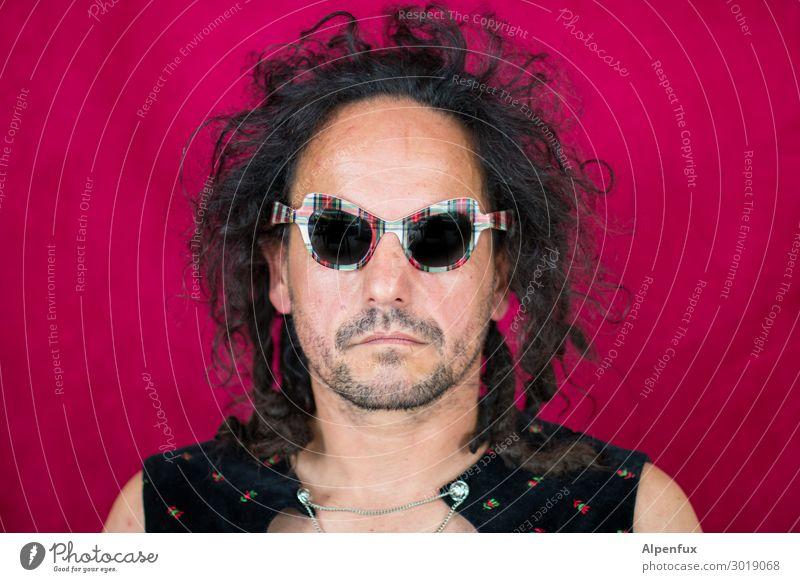Schräger Typ I maskulin Mann Erwachsene Haare & Frisuren Gesicht 1 Mensch Ärger Entschlossenheit Erfolg Identität einzigartig innovativ Inspiration