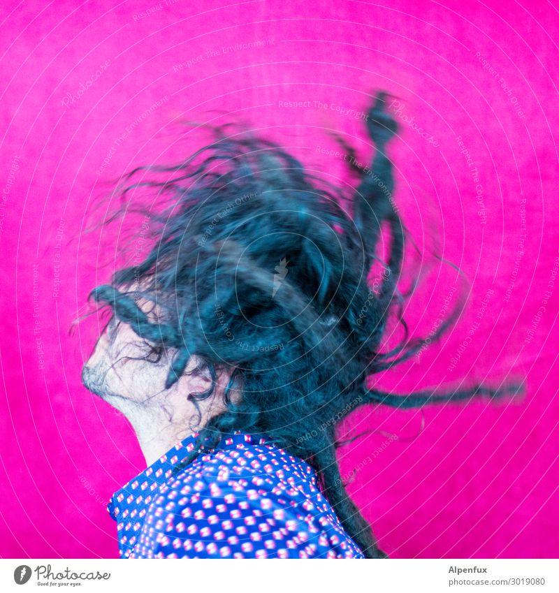 Wurzelwerk Mann Freude Erwachsene Bewegung Glück außergewöhnlich Haare & Frisuren maskulin 45-60 Jahre Erfolg Lebensfreude verrückt Tanzen einzigartig Coolness